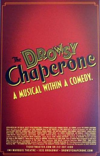 The Drowsy Chaperone - Broadway production windowcard