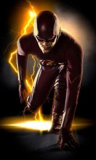 Flash in other media - Grant Gustin as the titular protagonist in the television series The Flash, a spin-off of Arrow.
