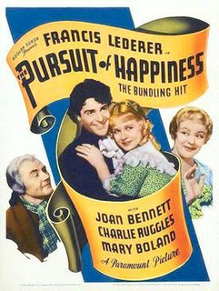 <i>The Pursuit of Happiness</i> (1934 film) 1934 American comedy film directed by Alexander Hall