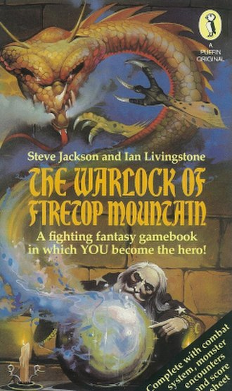The Warlock of Firetop Mountain - Cover of the first edition