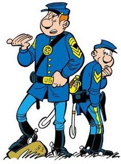 <i>Les Tuniques Bleues</i> series of Belgian comic books