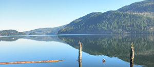 Lake Whatcom - View of Lake Whatcom from south end.