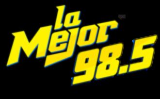XHBH-FM - Image: XHBH lamejor 98.5 logo
