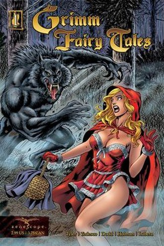 Adaptations of Little Red Riding Hood - Little Red Riding Hood in one of a number of comic book adaptations. Art by Al Rio, published by Zenescope.