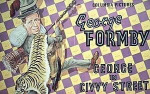 George in Civvy Street - UK trade ad poster