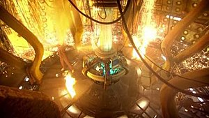Regeneration (Doctor Who) - The Tenth Doctor's fiery regeneration into the Eleventh Doctor.