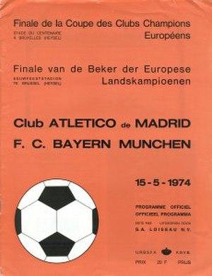 1974 European Cup Final - Image: 1974 European Cup Final programme