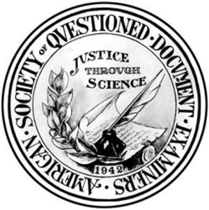 American Society of Questioned Document Examiners - Image: ASQDE logo