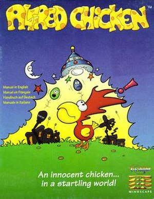 Alfred Chicken - European Amiga cover art