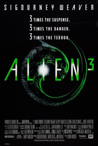 Alien 3 - Theatrical release poster