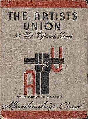 Artists Union - Image: Artists Union membership card