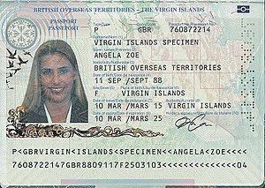 British passport (British Virgin Islands) - Virgin Islands passport information page