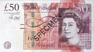 Pound sterling - Image: Bank of England £50 obverse