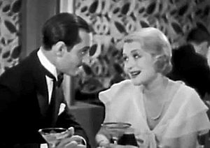 Sin Takes a Holiday - Basil Rathbone and Constance Bennett in a screen capture from the film