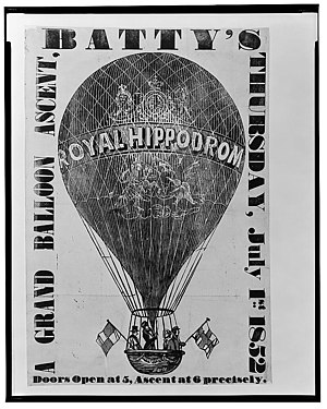 William Batty - Image: Batty's balloon ascent