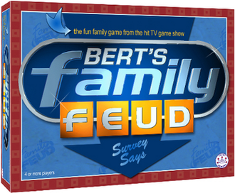 Bert's Family Feud - Bert's Family Feud board game