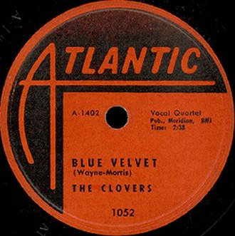 Blue Velvet (song) - Image: Blue Velvet Song Recorde Single