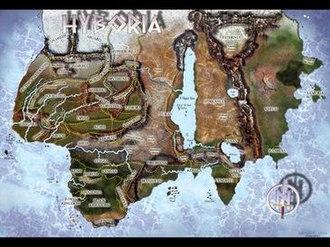 Conan the Barbarian - A map of Robert E. Howard's Hyborian Age.