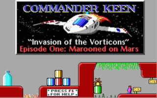 <i>Commander Keen in Invasion of the Vorticons</i> 1990 episodic DOS video game