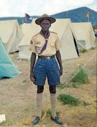 Scouting and Guiding in the Republic of the Congo - Congolese Scout, circa 1968