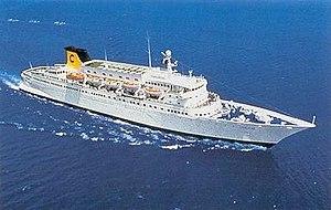 MS Golden Princess - Costa Playa at sea.