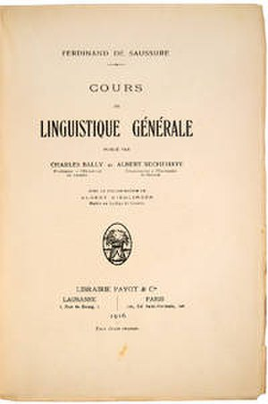 Course in General Linguistics - Image: Cours de linguistique générale
