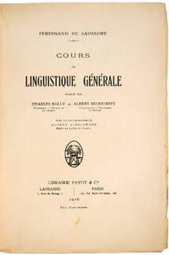 Course in General Linguistics - Image: Cours de linguistique générale