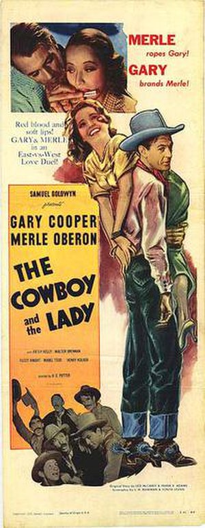 The Cowboy and the Lady (1938 film) - Theatrical release poster