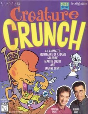 Creature Crunch - Cover art featuring Martin Short and Eugene Levy