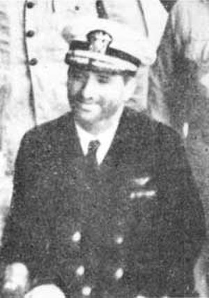 Winfield S. Cunningham - CDR Cunningham as POW aboard the Japanese transport Nitta Maru, at Yokohama, Japan, January 1942.
