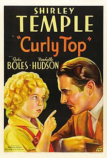 The film poster depicts Temple and Boles in costume facing each other in profile against a dark background.