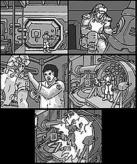 Much of Doom 3 was planned out using storyboards to increase the cinematic feel of the game.