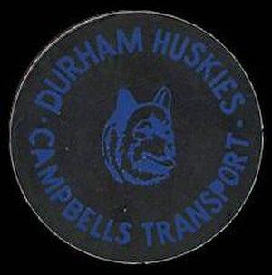 Durham Huskies - Durham Huskies' game puck (circa 1990).
