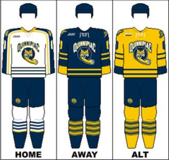 Quinnipiac Bobcats men's ice hockey - Image: ECAC Uniform Quinnipiac