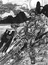 "Chris Metzen's ""Easy Rider"" concept art, from which Clotworthy based the personality of Raynor."