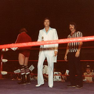 World Class Championship Wrestling - Ring Announcer Gene Summers at the Sportatorium in 1981