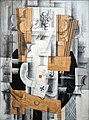 Georges Braque, 1913, Nature morte (Fruit Dish, Ace of Clubs), oil, gouache and charcoal on canvas, 81 x 60 cm (31.8 x 23.6 in), Musée National d'Art Moderne, Centre Georges Pompidou, Paris.jpg