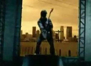 The River (Good Charlotte song) - Synyster Gates and L.A. in the background