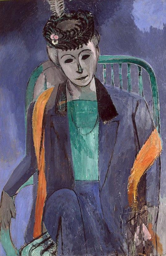 Henri Matisse, 1913, Portrait of the Artist's Wife, oil on canvas, 146 x 97.7 cm, Hermitage, Saint Petersburg