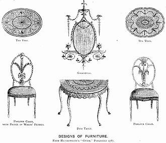 George Hepplewhite - Image: Hepplewhite's Guide 1787