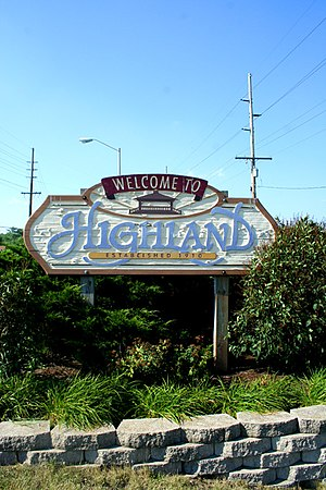 Highland, Lake County, Indiana - Image: Highland IN