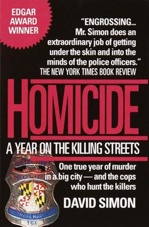 Homicide: A Year on the Killing Streets - Image: Homicidecover
