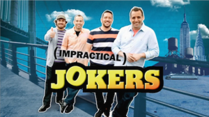 Impractical Jokers - Main Title. From left to right: Q, Murr, Sal, and Joe