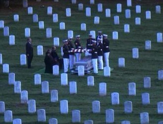In Excelsis Deo - The burial scene, filmed at Arlington National Cemetery