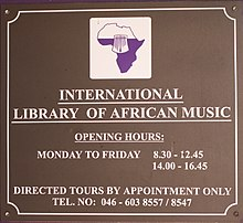 International Library of African Music (sign).jpg