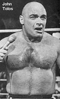 John Tolos Greek-Canadian professional wrestler and manager