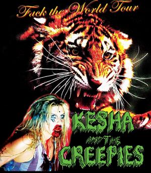 Kesha and the Creepies: Fuck the World Tour - Image: Kesha and the Creepies tour poster