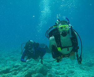 Recreational diving - Divers off Key West, Florida