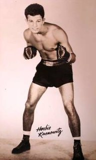 Herbie Kronowitz American boxer and sports referee