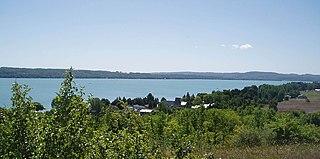 lake in Leelanau County, Michigan, USA